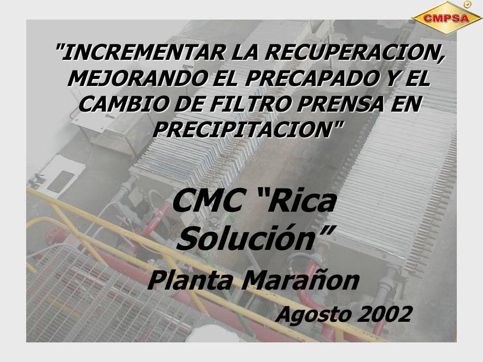 CMC Rica Solución Planta Marañon Agosto 2002