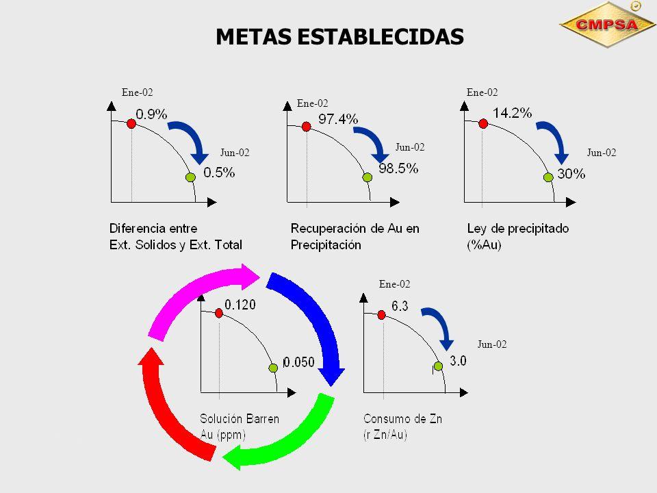 METAS ESTABLECIDAS 4Ene-02 Ene-02 Ene-02 Ene-02 Jun-02 Jun-02 Jun-02