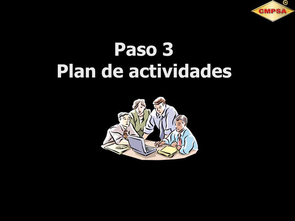 Paso 3 Plan de actividades