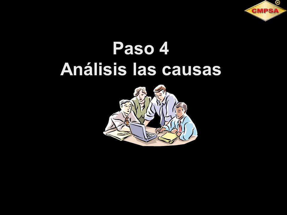 Paso 4 Análisis las causas