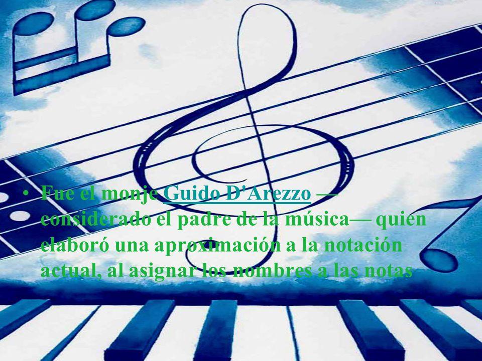 Fue el monje Guido D Arezzo —considerado el padre de la música— quien elaboró una aproximación a la notación actual, al asignar los nombres a las notas