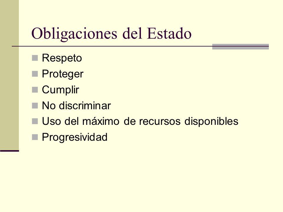 Obligaciones del Estado