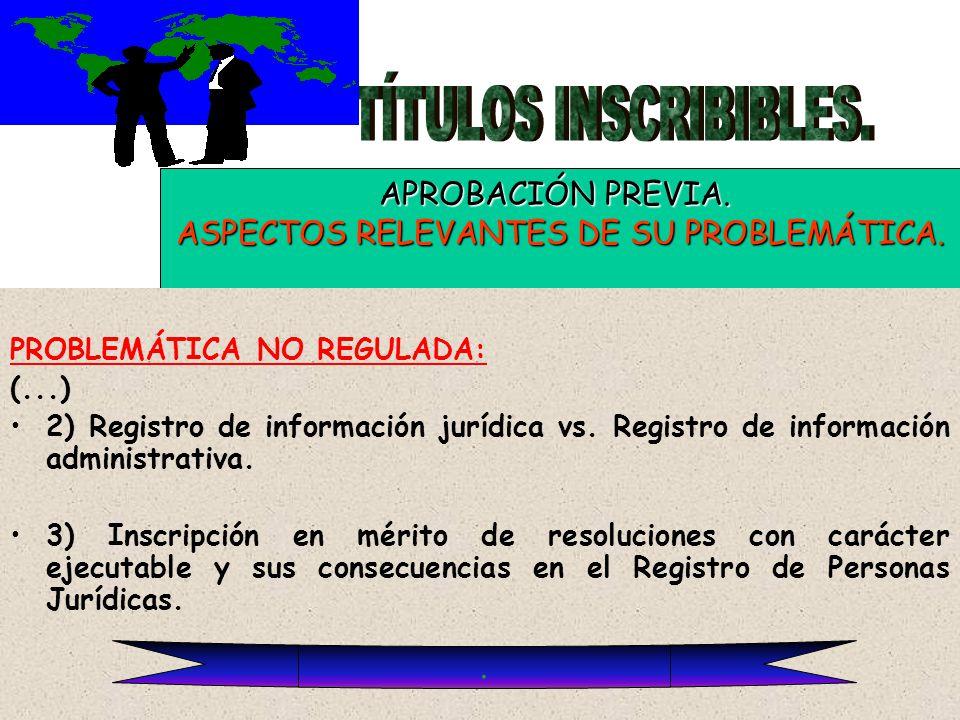 ASPECTOS RELEVANTES DE SU PROBLEMÁTICA.