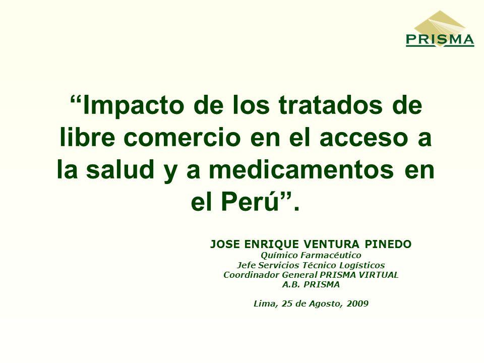 Impacto de los tratados de libre comercio en el acceso a la salud y a medicamentos en el Perú .