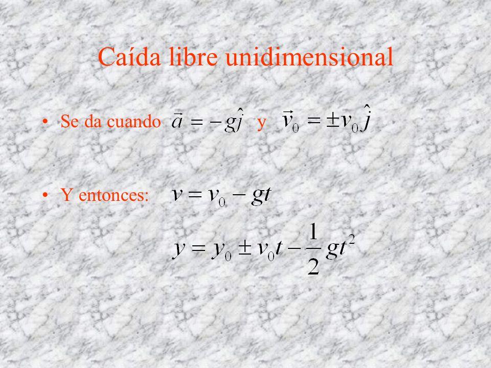 Caída libre unidimensional