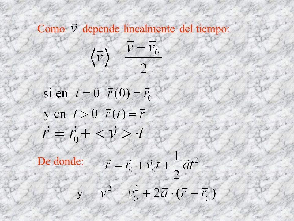 Como depende linealmente del tiempo:
