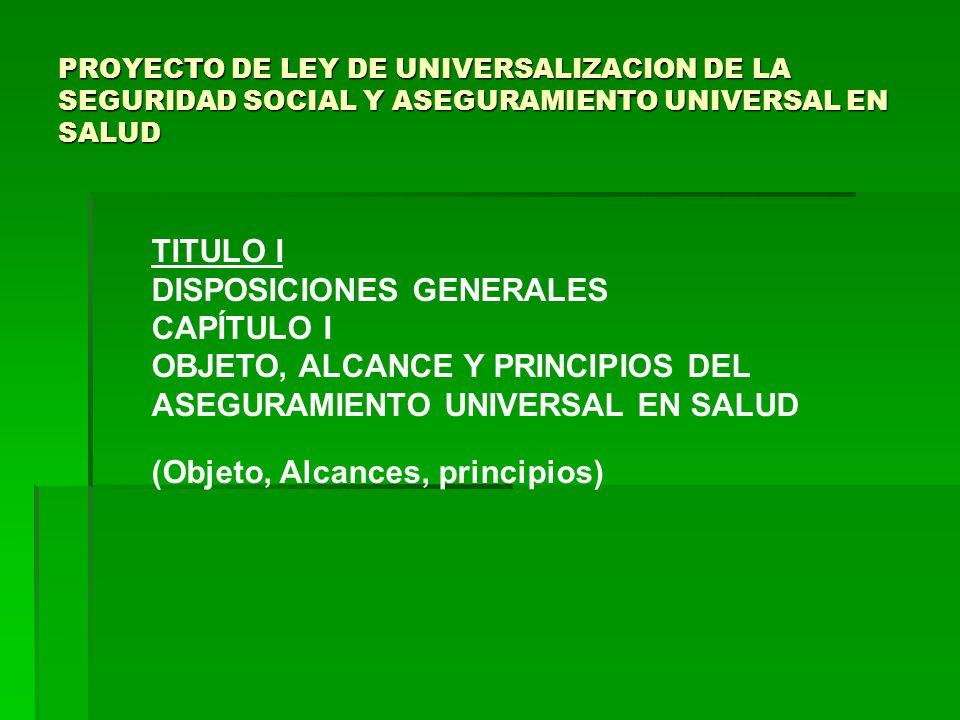 DISPOSICIONES GENERALES CAPÍTULO I OBJETO, ALCANCE Y PRINCIPIOS DEL