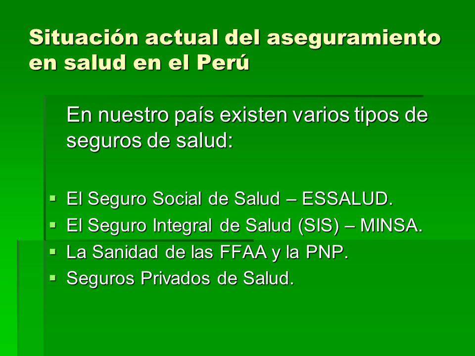 Situación actual del aseguramiento en salud en el Perú