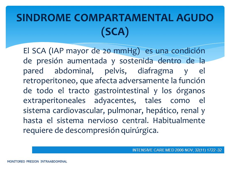 SINDROME COMPARTAMENTAL AGUDO (SCA)
