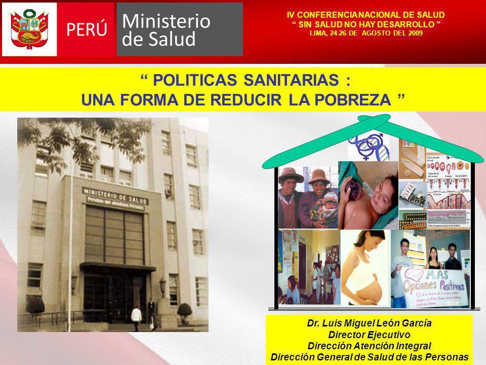 POLITICAS SANITARIAS : UNA FORMA DE REDUCIR LA POBREZA