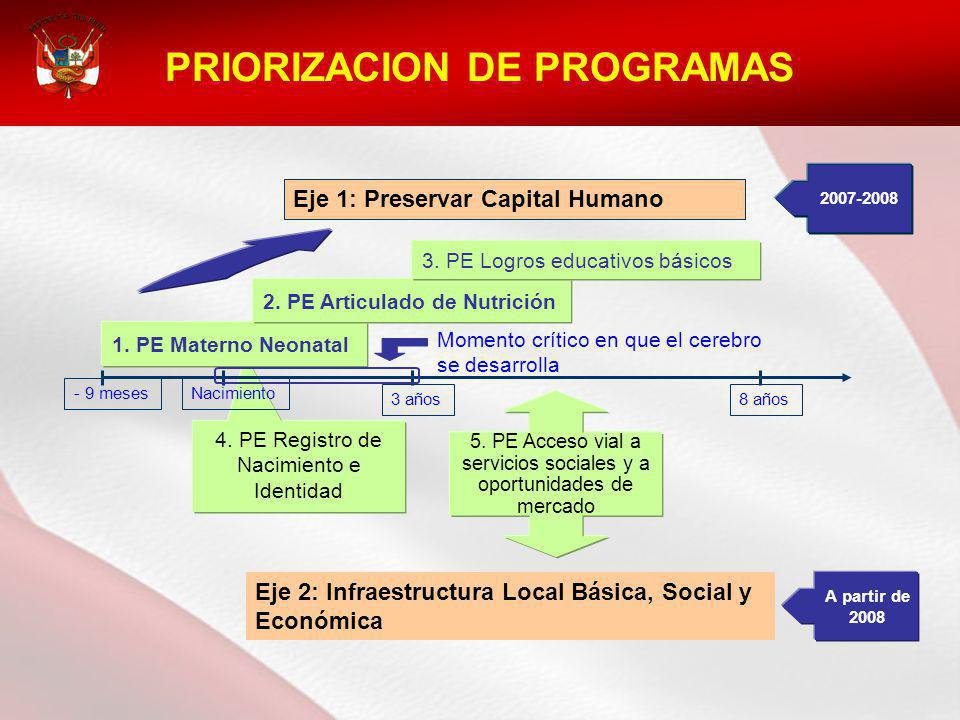 PRIORIZACION DE PROGRAMAS