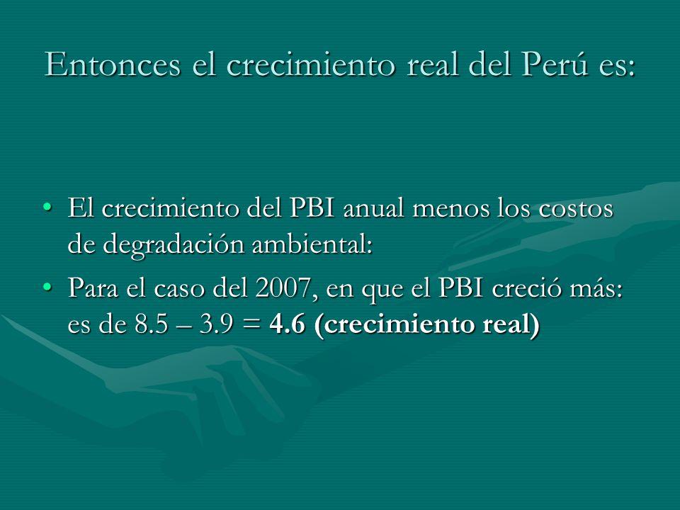 Entonces el crecimiento real del Perú es: