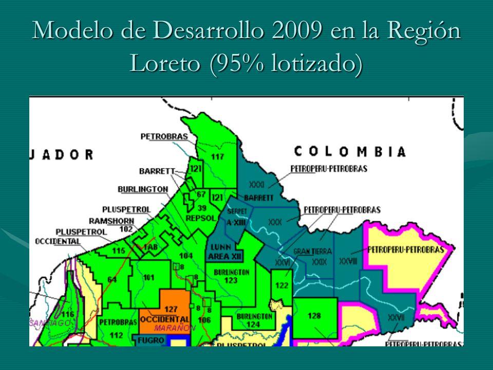 Modelo de Desarrollo 2009 en la Región Loreto (95% lotizado)