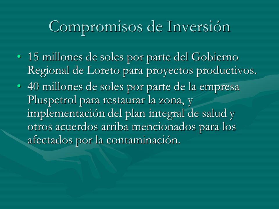 Compromisos de Inversión