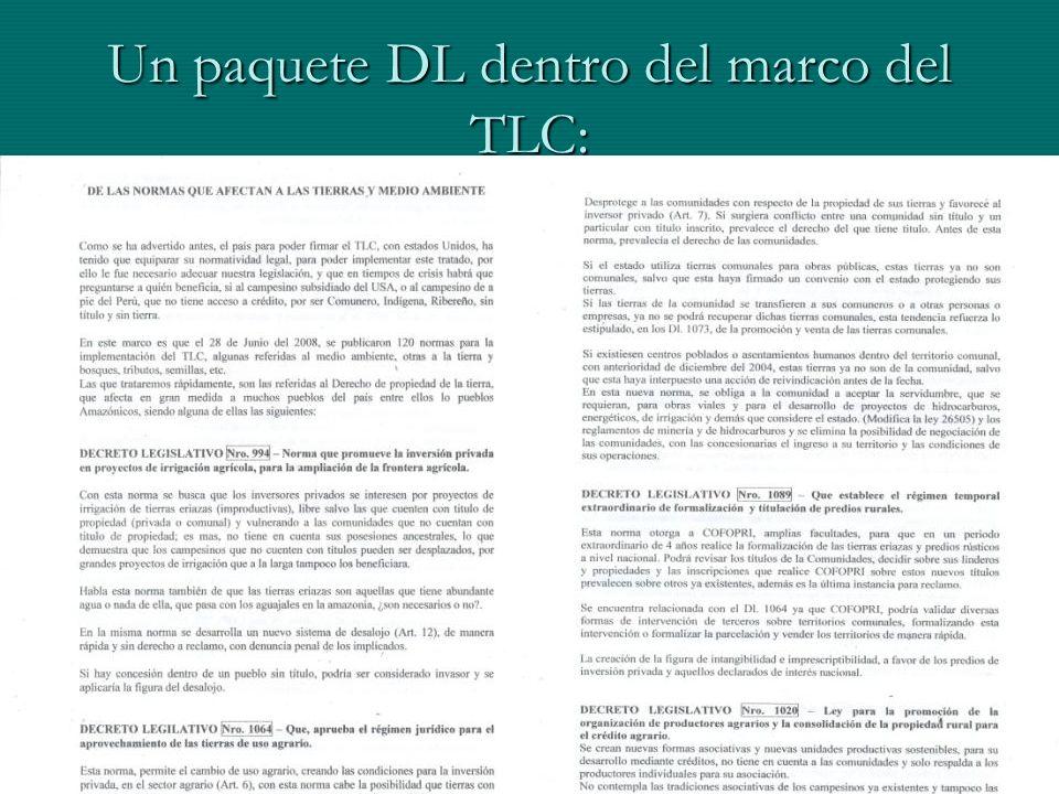 Un paquete DL dentro del marco del TLC: