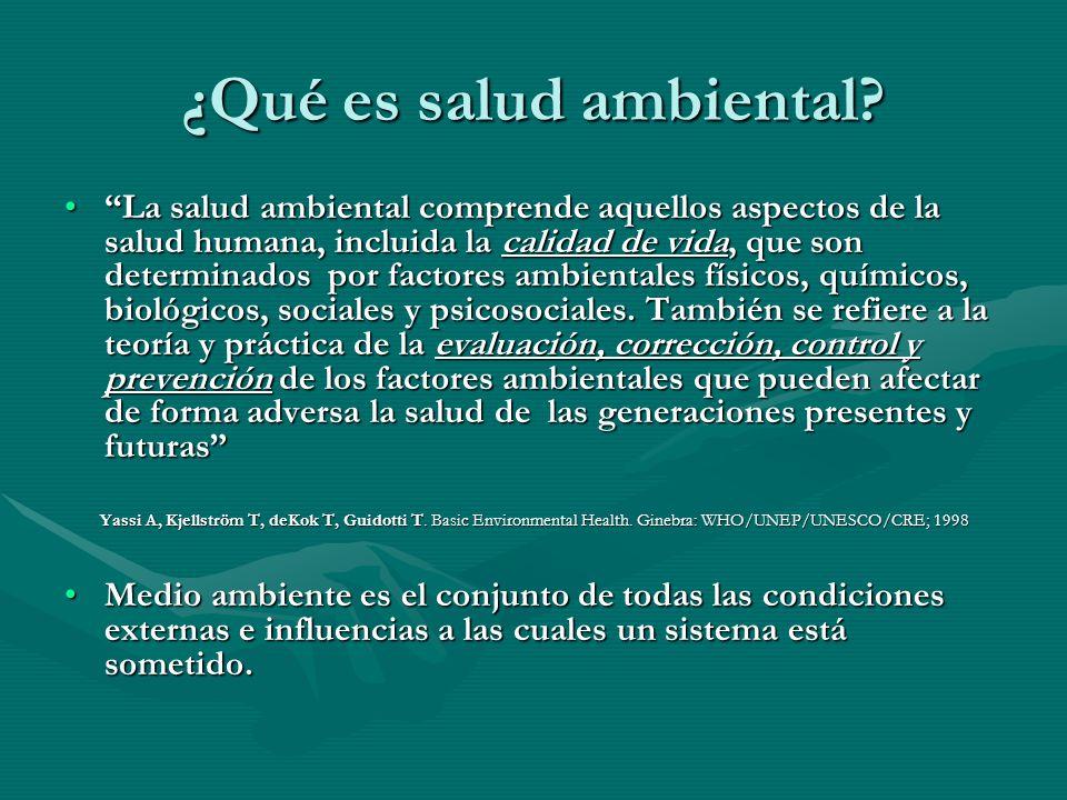 ¿Qué es salud ambiental