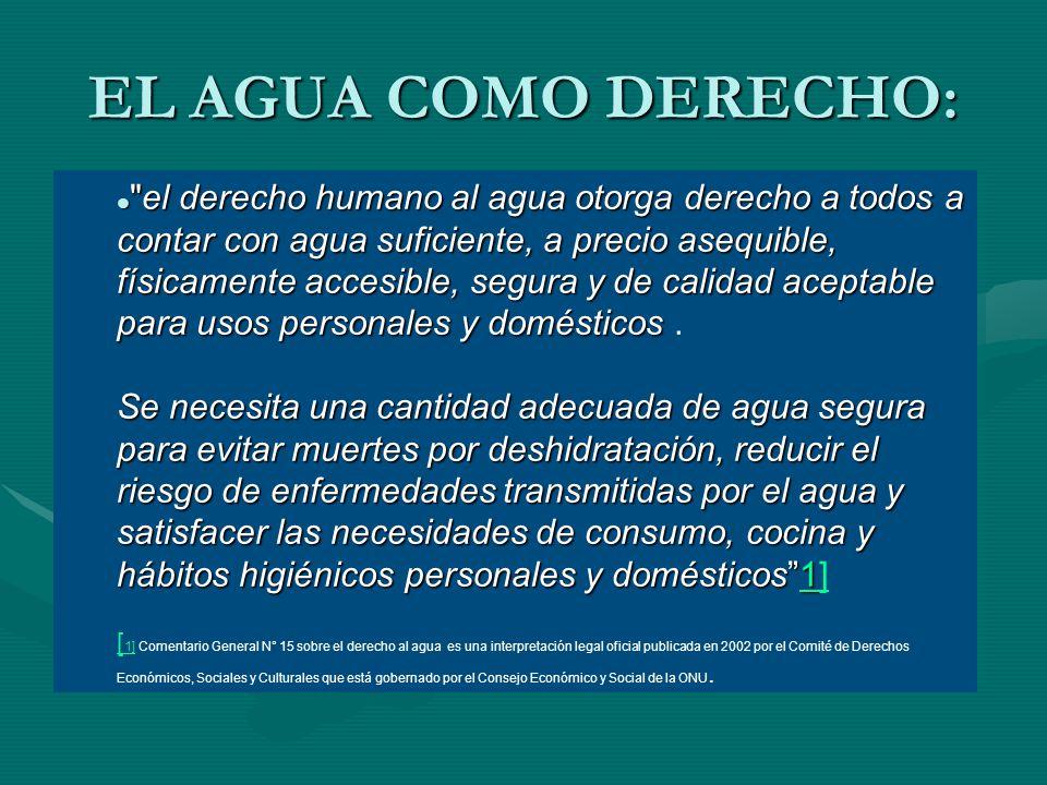 EL AGUA COMO DERECHO: