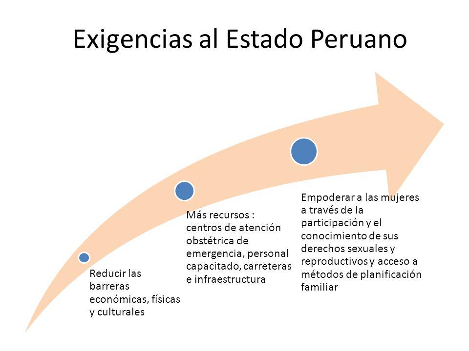 Exigencias al Estado Peruano
