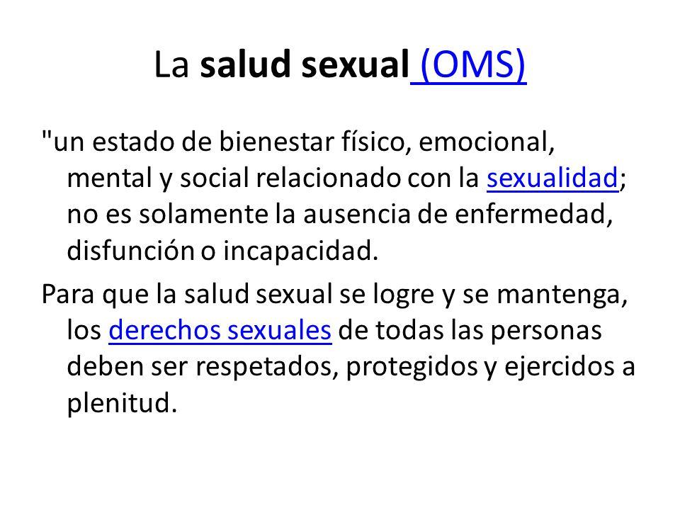 La salud sexual (OMS)