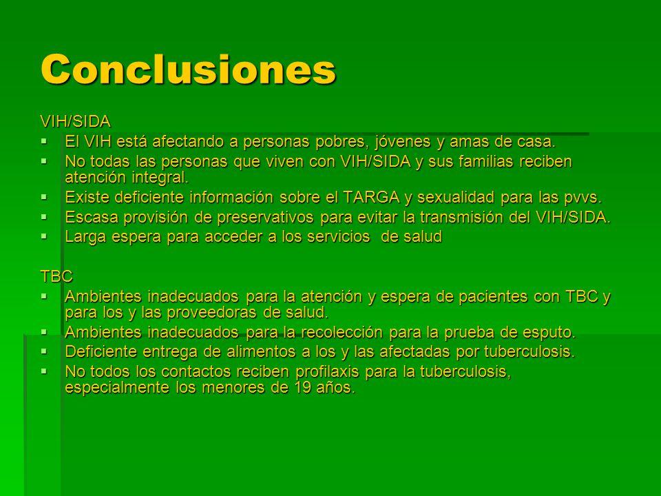 Conclusiones VIH/SIDA
