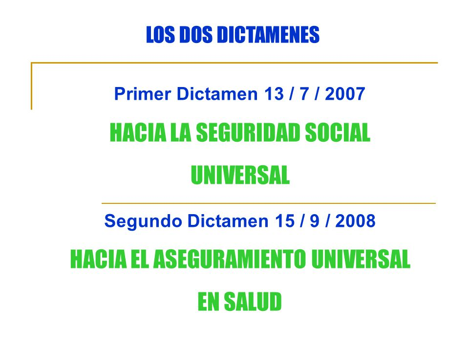 HACIA LA SEGURIDAD SOCIAL UNIVERSAL