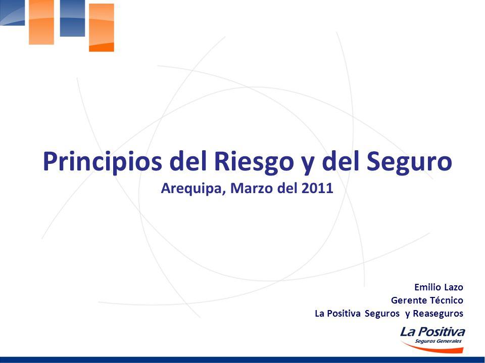 Principios del Riesgo y del Seguro Arequipa, Marzo del 2011