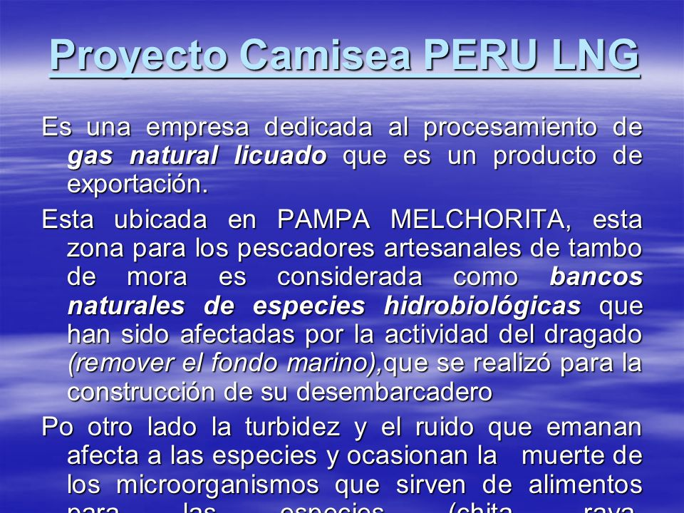 Proyecto Camisea PERU LNG