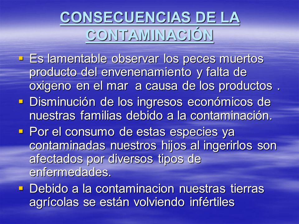 CONSECUENCIAS DE LA CONTAMINACIÓN