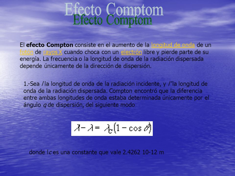 Efecto Comptom