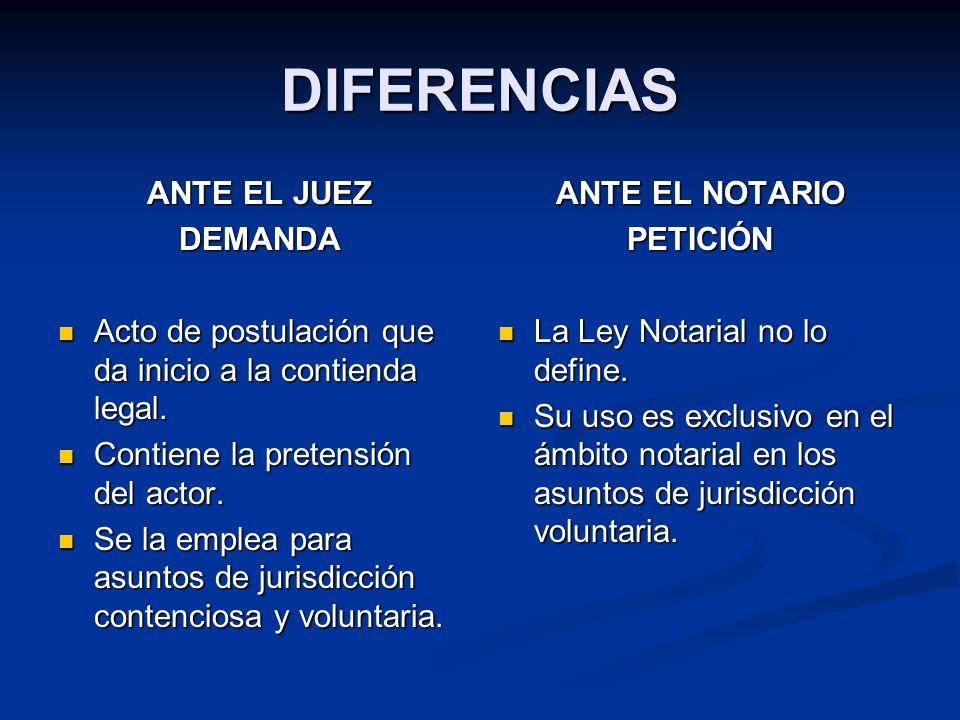 DIFERENCIAS ANTE EL JUEZ DEMANDA
