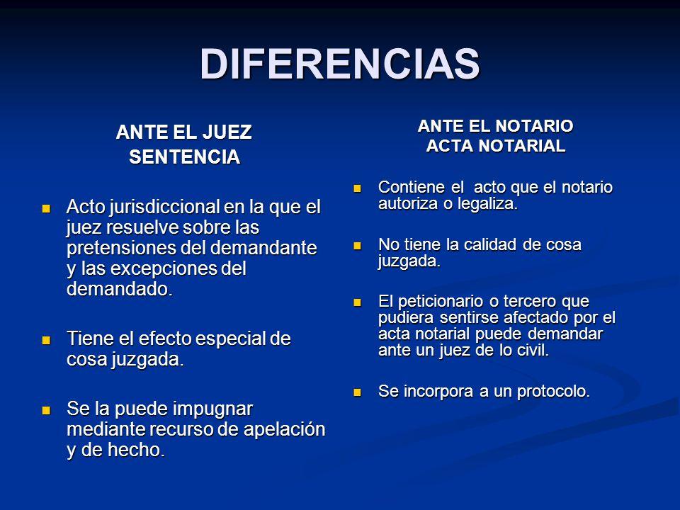 DIFERENCIAS ANTE EL JUEZ SENTENCIA