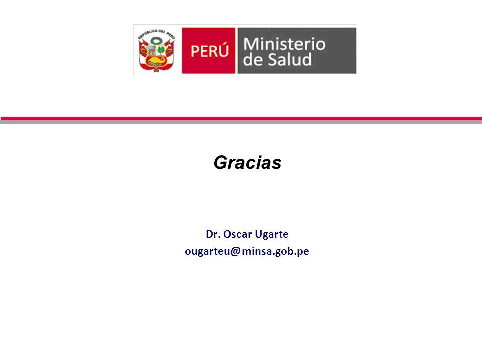 Gracias Dr. Oscar Ugarte ougarteu@minsa.gob.pe