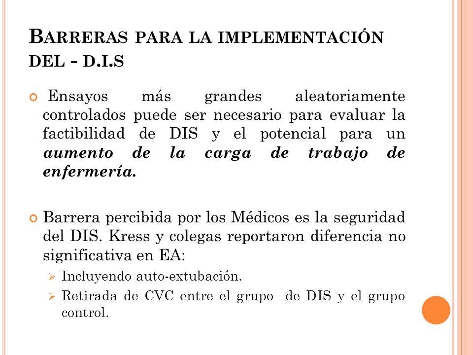 Barreras para la implementación del - d.i.s