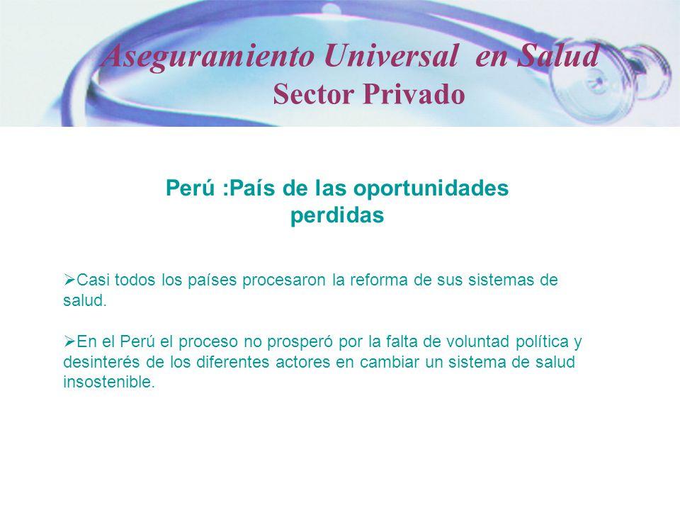 Perú :País de las oportunidades perdidas