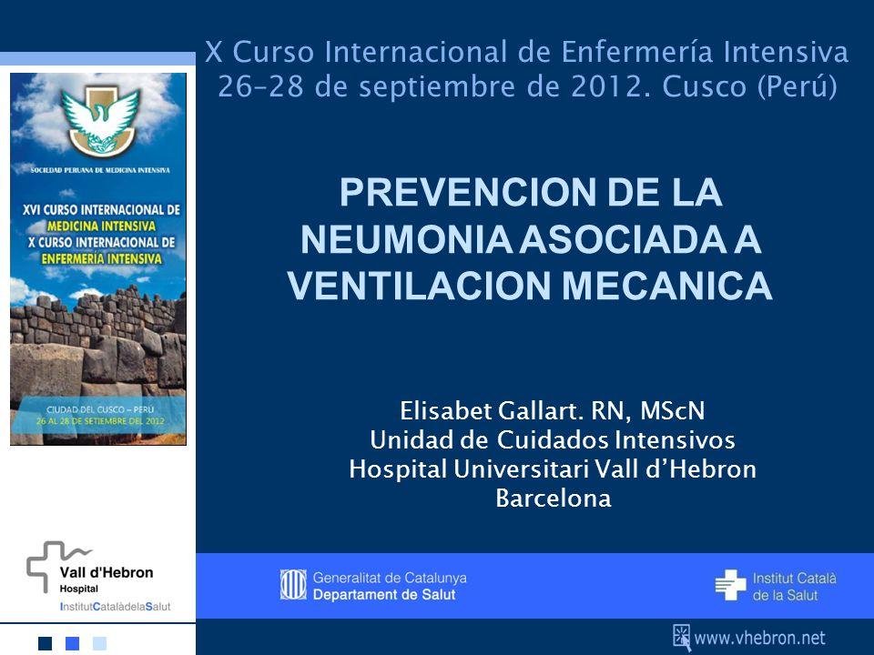 PREVENCION DE LA NEUMONIA ASOCIADA A VENTILACION MECANICA - ppt ...