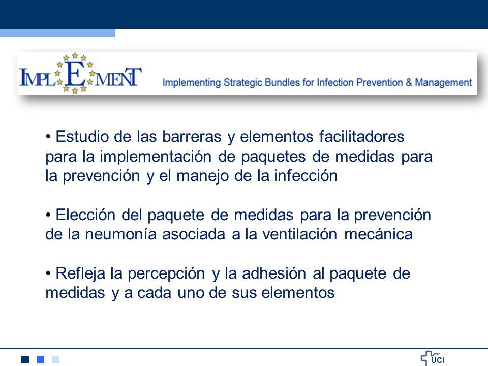Estudio de las barreras y elementos facilitadores para la implementación de paquetes de medidas para la prevención y el manejo de la infección