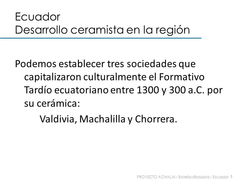 Ecuador Desarrollo ceramista en la región