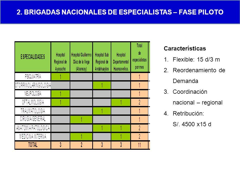2. Brigadas Nacionales de Especialistas – fase piloto