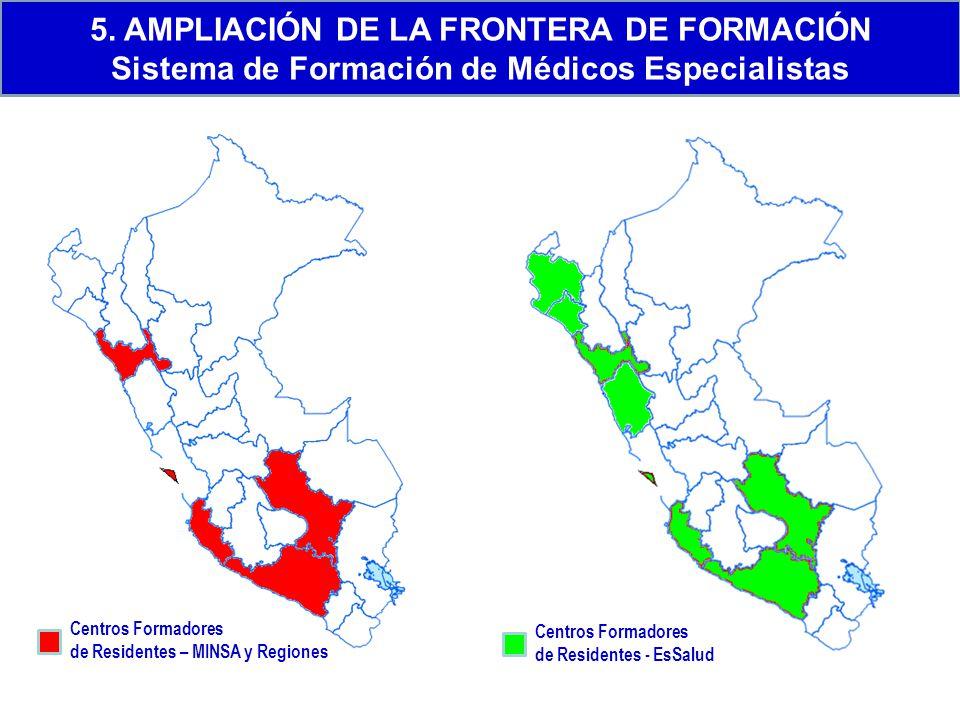 5. AMPLIACIÓN DE LA FRONTERA DE FORMACIÓN Sistema de Formación de Médicos Especialistas
