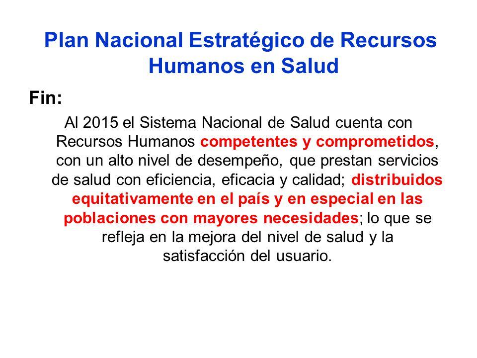 Plan Nacional Estratégico de Recursos Humanos en Salud
