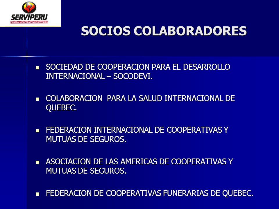 SOCIOS COLABORADORES SOCIEDAD DE COOPERACION PARA EL DESARROLLO INTERNACIONAL – SOCODEVI. COLABORACION PARA LA SALUD INTERNACIONAL DE QUEBEC.