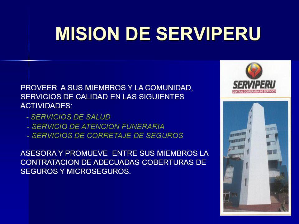 MISION DE SERVIPERU - SERVICIOS DE SALUD