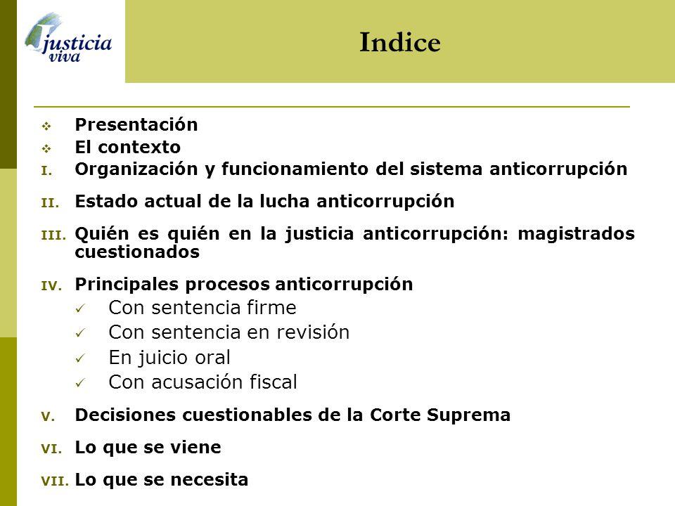 Indice Con sentencia firme Con sentencia en revisión En juicio oral