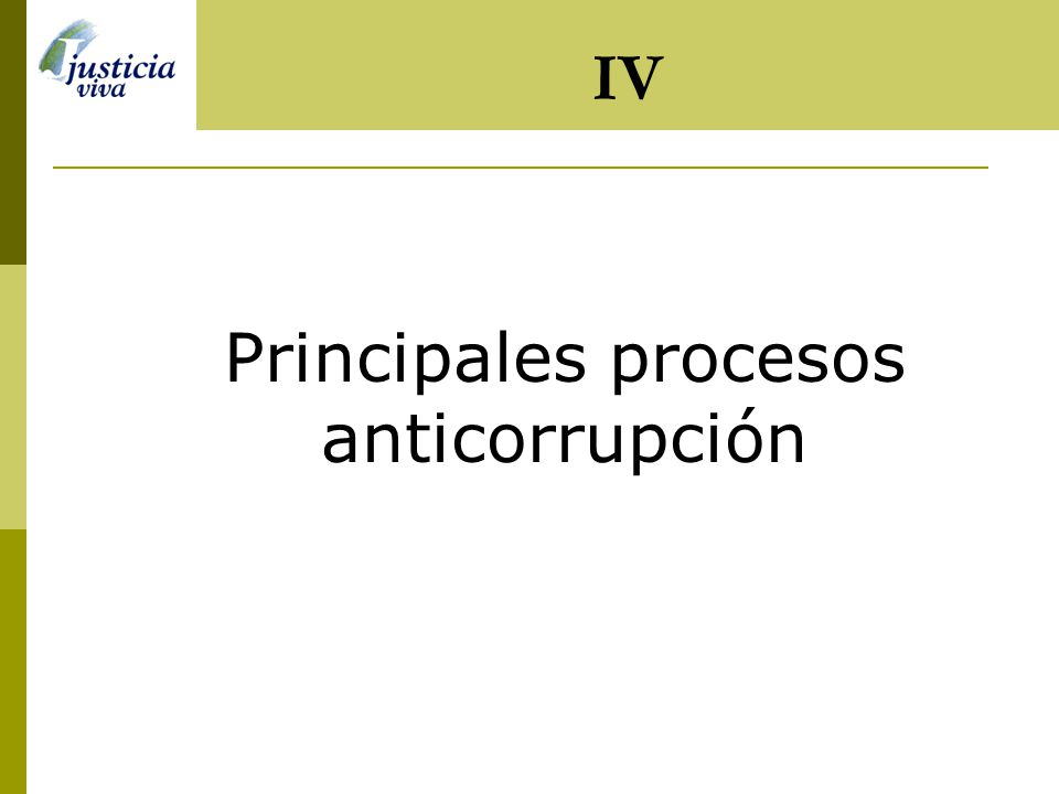 Principales procesos anticorrupción