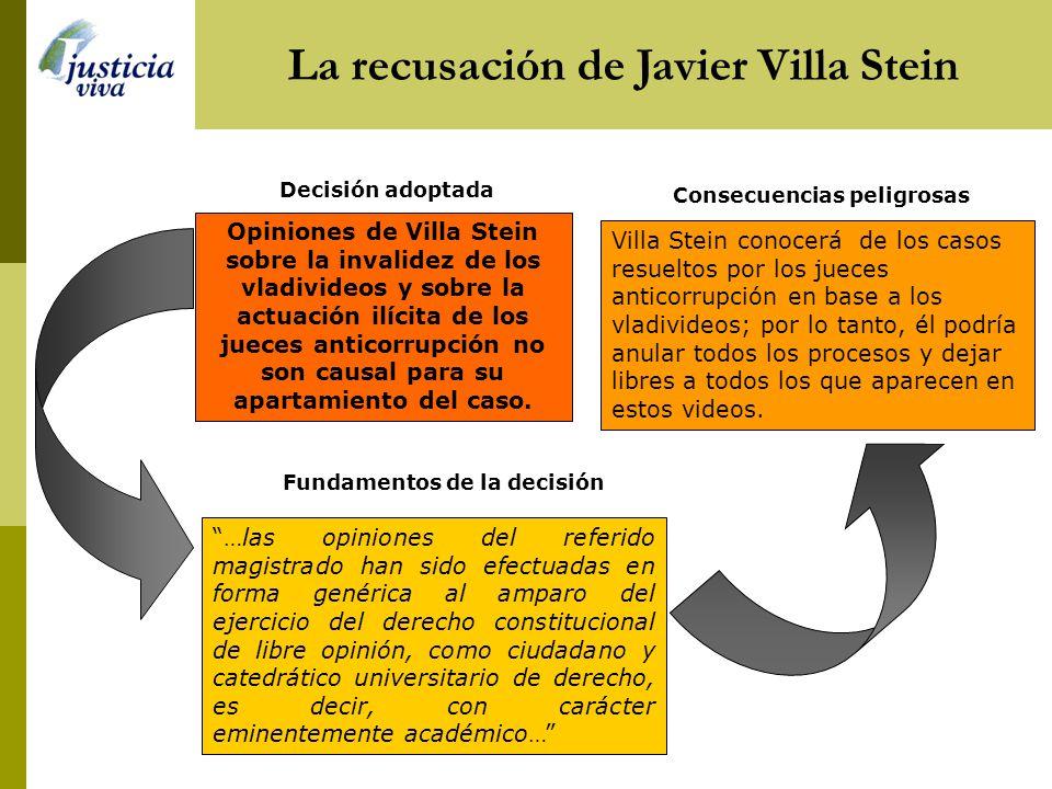 La recusación de Javier Villa Stein