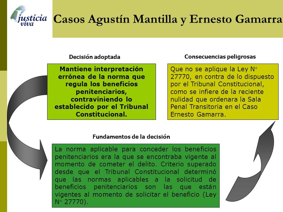 Casos Agustín Mantilla y Ernesto Gamarra