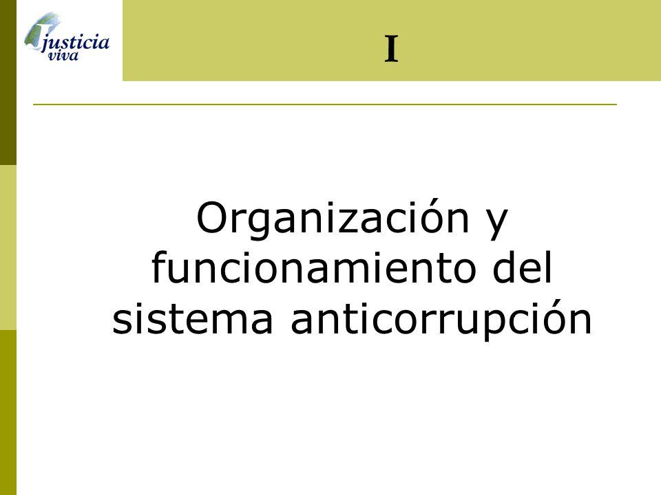 Organización y funcionamiento del sistema anticorrupción