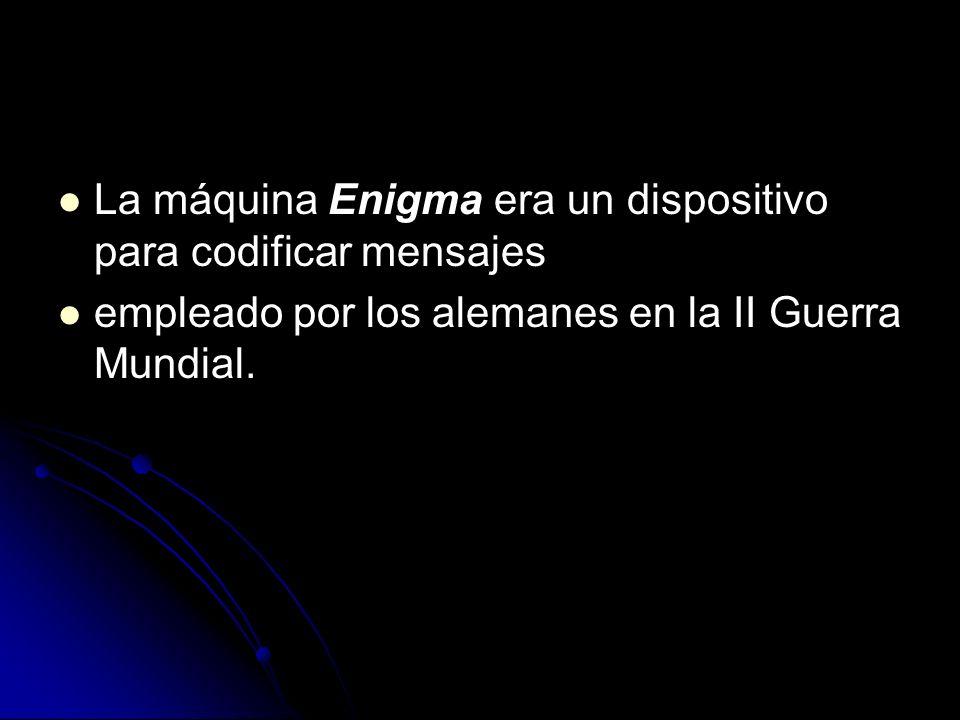 La máquina Enigma era un dispositivo para codificar mensajes