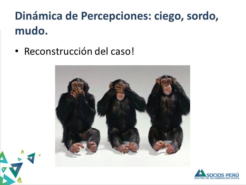 Dinámica de Percepciones: ciego, sordo, mudo.