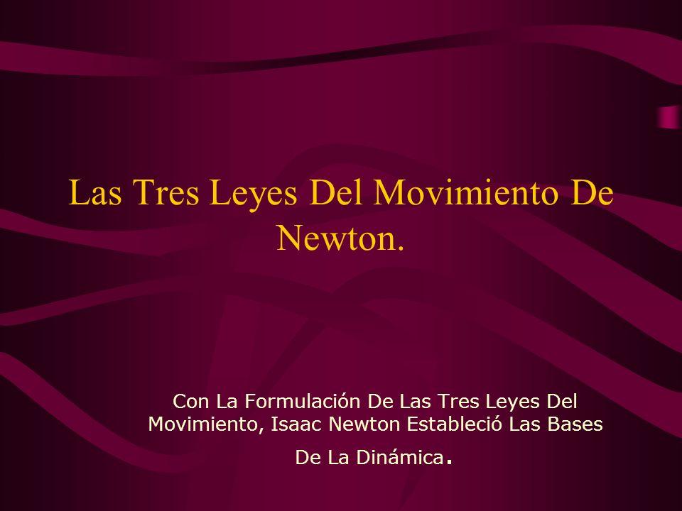 Las Tres Leyes Del Movimiento De Newton.
